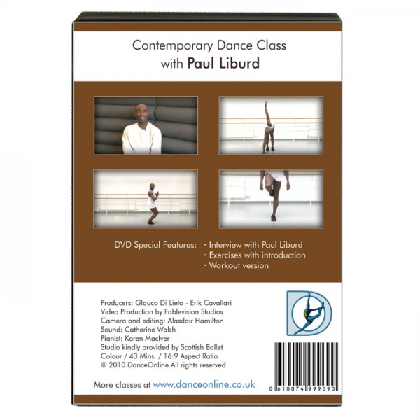 Step Fitness Dvd Uk: Contemporary Dance Class DVD With Paul Liburd